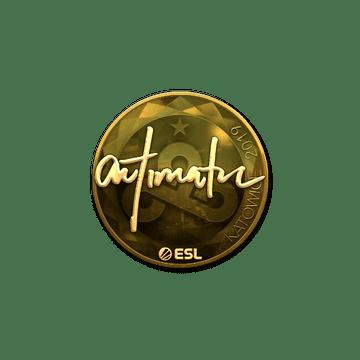 Sticker   autimatic (Gold)   Katowice 2019