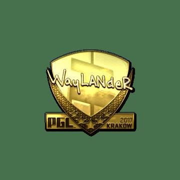 Sticker | wayLander (Gold) | Krakow 2017