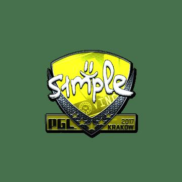 Sticker | s1mple (Foil) | Krakow 2017