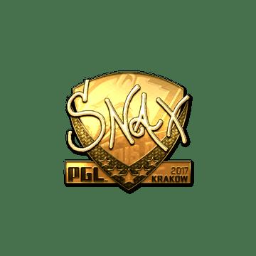 Sticker   Snax (Gold)   Krakow 2017