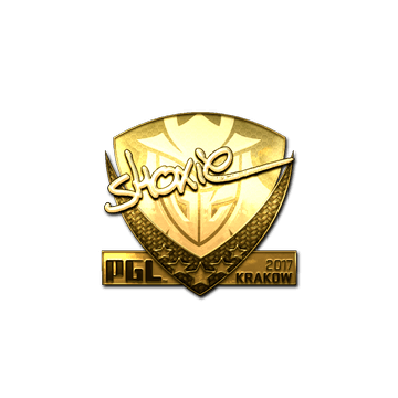 Sticker | shox (Gold) | Krakow 2017