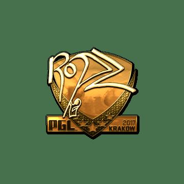 Sticker | ropz (Gold) | Krakow 2017