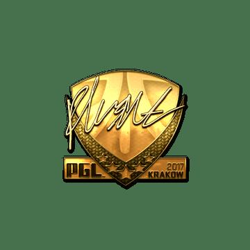 Sticker | flusha (Gold) | Krakow 2017