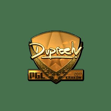 Sticker   dupreeh (Gold)   Krakow 2017