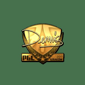 Sticker   dennis (Gold)   Krakow 2017