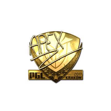 Sticker | apEX (Gold) | Krakow 2017