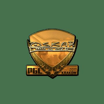 Sticker | oskar (Gold) | Krakow 2017