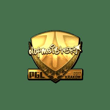 Sticker | olofmeister (Gold) | Krakow 2017