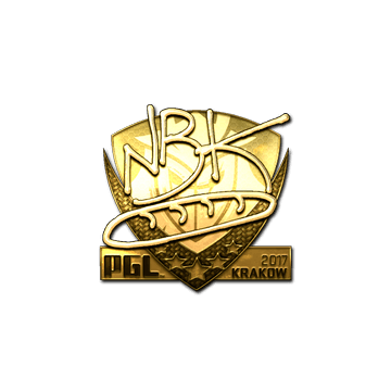 Sticker | NBK- (Gold) | Krakow 2017