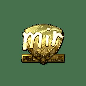 Sticker | mir (Gold) | Krakow 2017