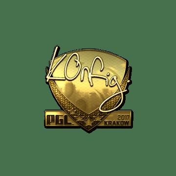 Sticker | k0nfig (Gold) | Krakow 2017