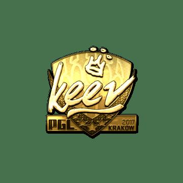 Sticker | keev (Gold) | Krakow 2017