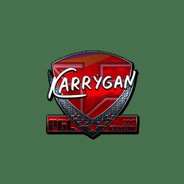 Sticker | karrigan (Foil) | Krakow 2017
