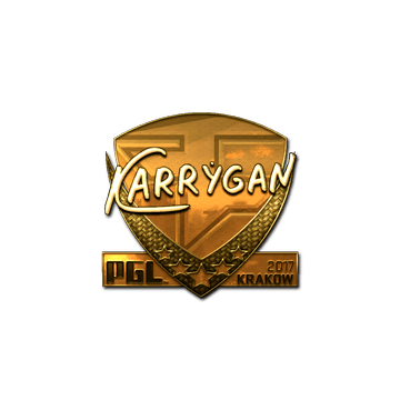 Sticker | karrigan (Gold) | Krakow 2017