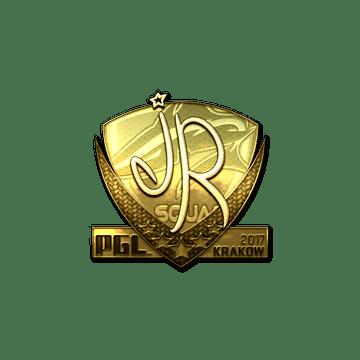 Sticker | jR (Gold) | Krakow 2017