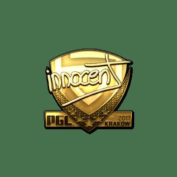 Sticker | innocent (Gold) | Krakow 2017