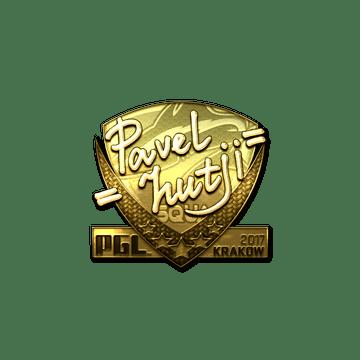 Sticker | hutji (Gold) | Krakow 2017