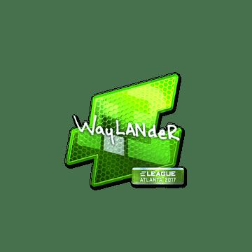 Sticker   wayLander (Foil)   Atlanta 2017