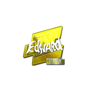 Sticker Edward (Foil) | Atlanta 2017