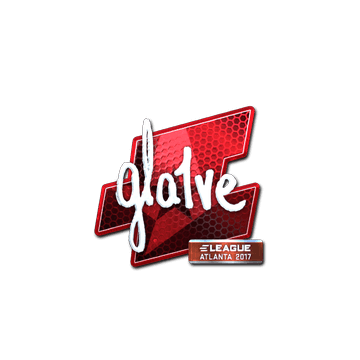 Sticker gla1ve (Foil) | Atlanta 2017