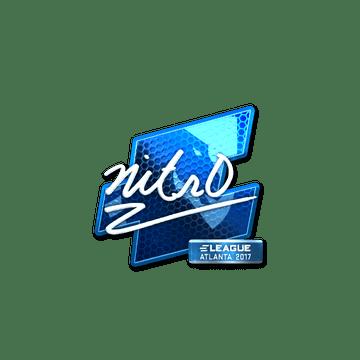 Sticker   nitr0 (Foil)   Atlanta 2017