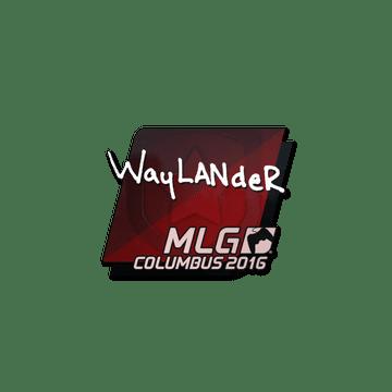 Sticker wayLander | MLG Columbus 2016