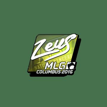 Sticker Zeus (Foil) | MLG Columbus 2016