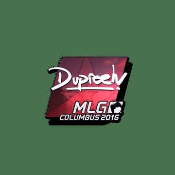 Sticker dupreeh (Foil)   MLG Columbus 2016