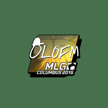 Sticker olofmeister (Foil) | MLG Columbus 2016