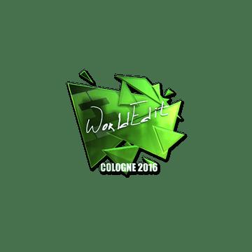 Sticker | WorldEdit (Foil) | Cologne 2016