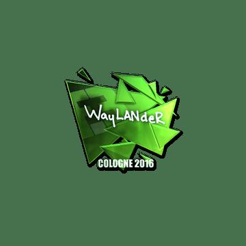 Sticker   wayLander (Foil)   Cologne 2016