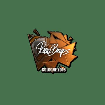Sticker pashaBiceps (Foil) | Cologne 2016