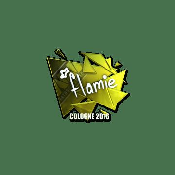 Sticker | flamie (Foil) | Cologne 2016
