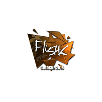 Sticker flusha (Foil) | Cologne 2016