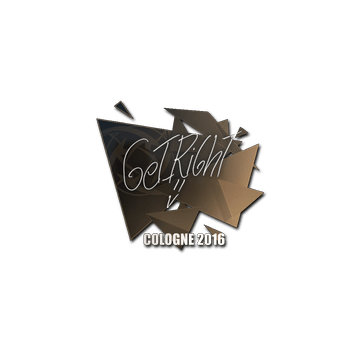 Sticker GeT_RiGhT | Cologne 2016