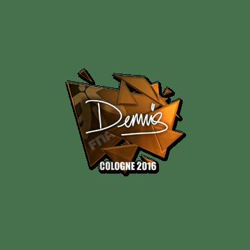 Sticker | dennis (Foil) | Cologne 2016