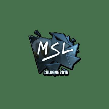 Sticker | MSL (Foil) | Cologne 2016