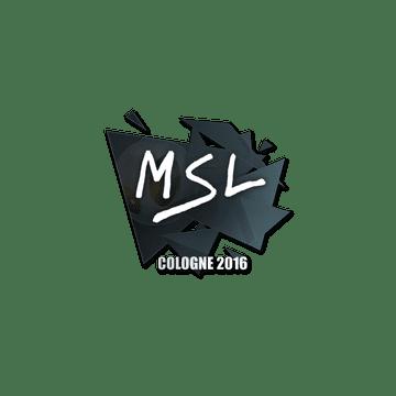 Sticker MSL | Cologne 2016