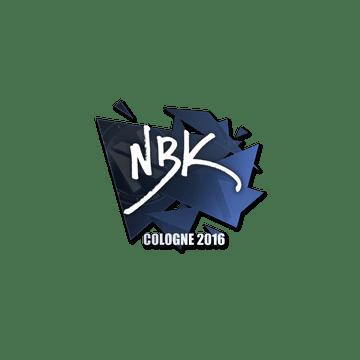 Sticker | NBK- | Cologne 2016