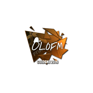 Sticker | olofmeister (Foil) | Cologne 2016