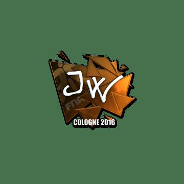 Sticker | JW (Foil) | Cologne 2016