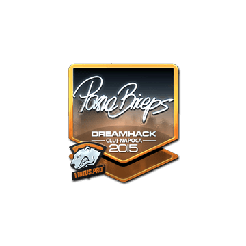 Sticker pashaBiceps (Foil) | Cluj-Napoca 2015