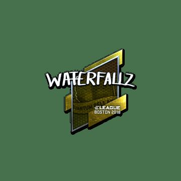 Sticker | waterfaLLZ (Foil) | Boston 2018