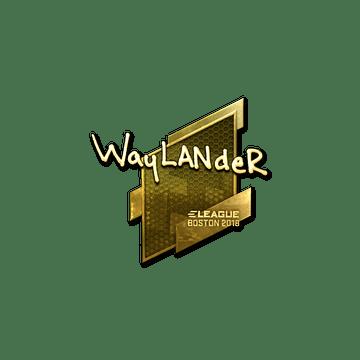 Sticker | wayLander (Gold) | Boston 2018