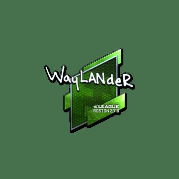 Sticker   wayLander (Foil)   Boston 2018