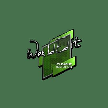 Sticker | WorldEdit | Boston 2018