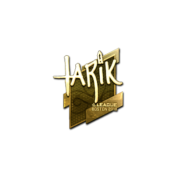 Sticker | tarik (Gold) | Boston 2018
