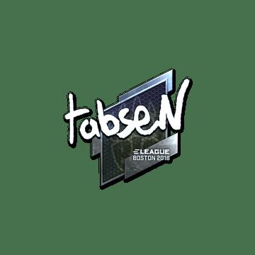 Sticker   tabseN (Foil)   Boston 2018