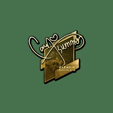 Sticker | Summer (Gold) | Boston 2018