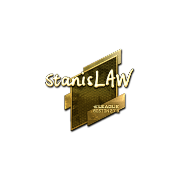 Sticker | stanislaw (Gold) | Boston 2018
